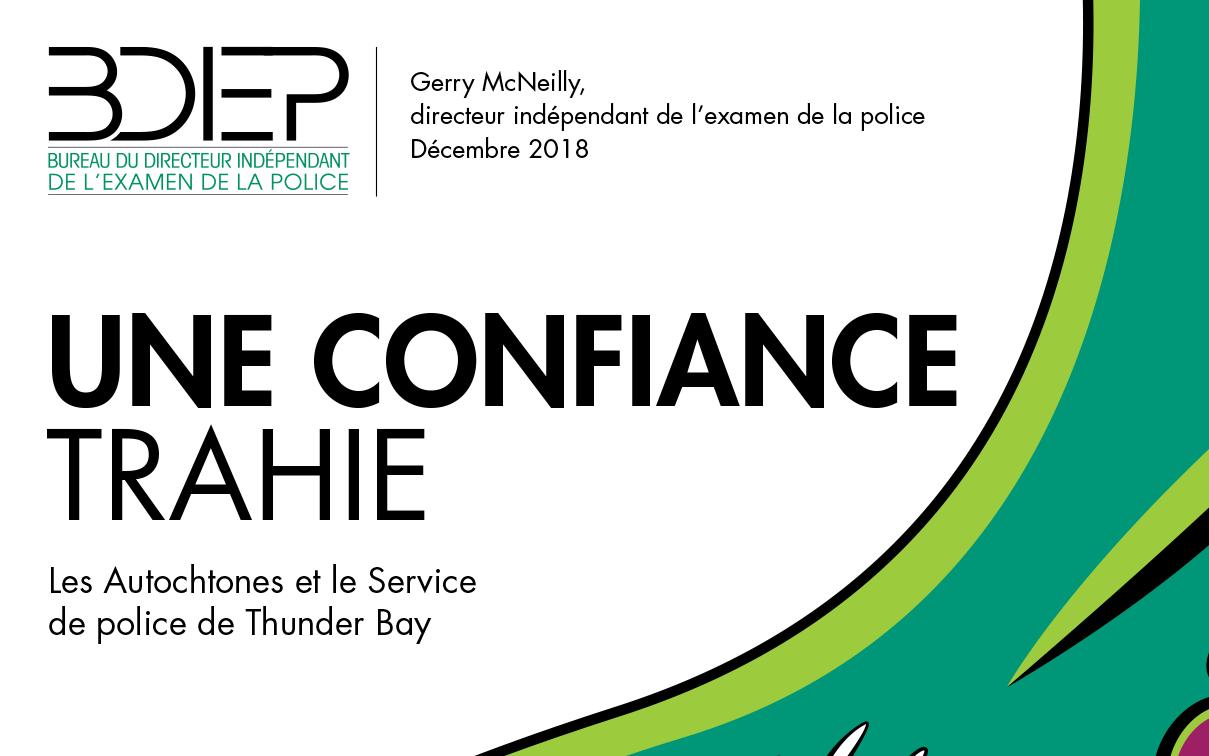 Image for news article: Le BDIEP publie le rapport de l'examen systémique concernant le Service de police de Thunder Bay (SPTB)