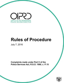 OIPRD Rules of Procedure